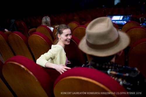 11 W Teatrze Ziemi Rybnickiej przed Koncertem Laureatów
