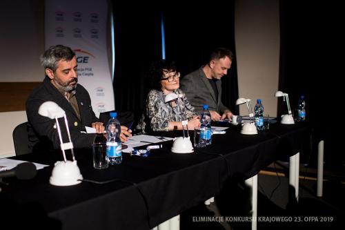 06 Jury Eliminacje Konkursu Krajowego 23. OFPA 2019: Konrad Imiela,Ewa Kornecka, Jarosław Wasik