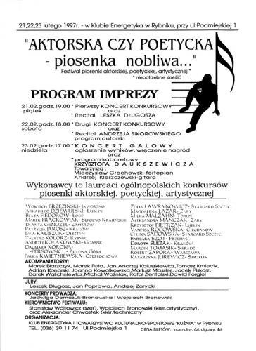 1997 plakat