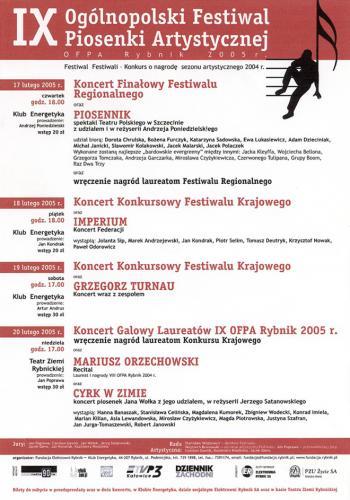 2005 plakat